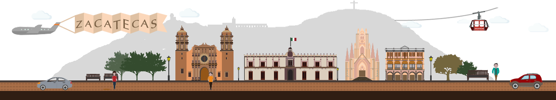 Imagen Decorativa de pie de página- Caricatura de Zacatecas